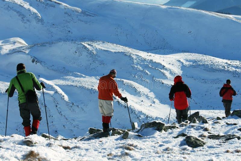 Caminhada dos invernos imagens de stock royalty free