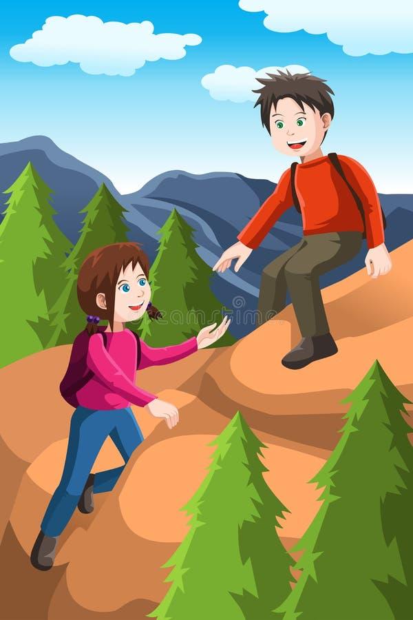 Caminhada dos miúdos ilustração stock