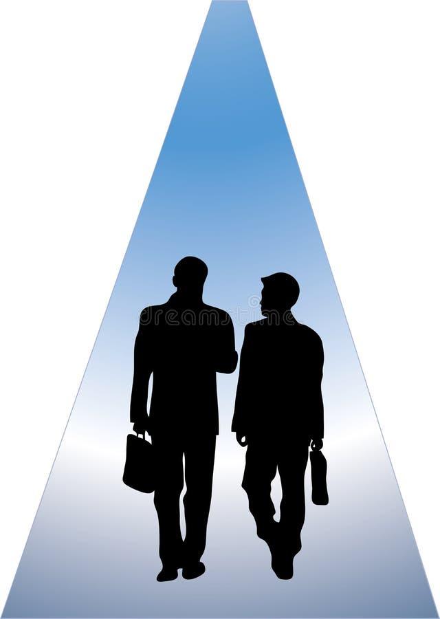 Caminhada e conversa do negócio ilustração royalty free