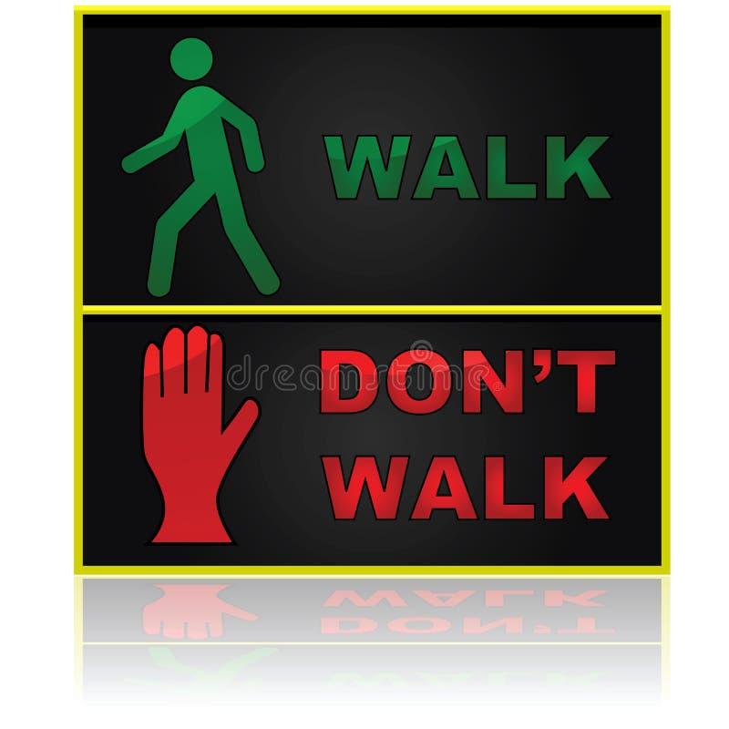 A caminhada e não anda ilustração royalty free