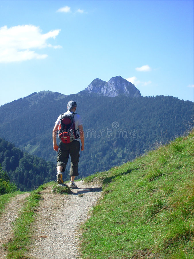 Caminhada em Baviera fotografia de stock royalty free