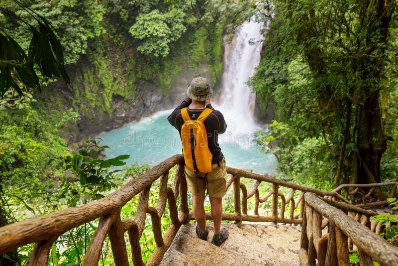 Caminhada em Costa Rica fotografia de stock