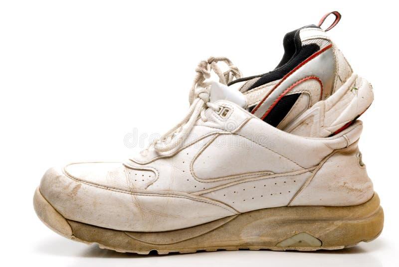 Caminhada em minhas sapatas fotografia de stock