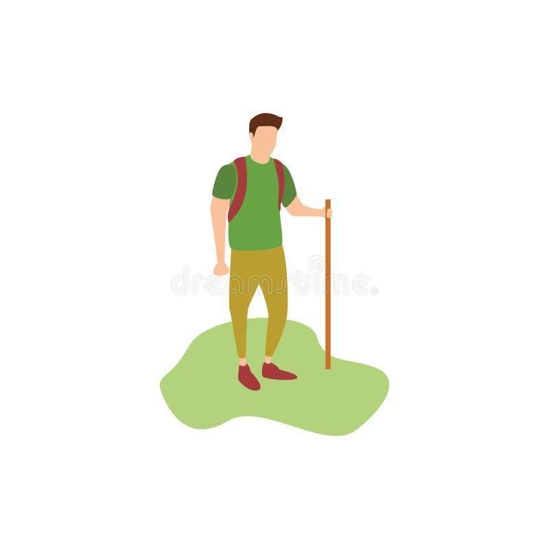Caminhada humana dos passatempos ilustração do vetor