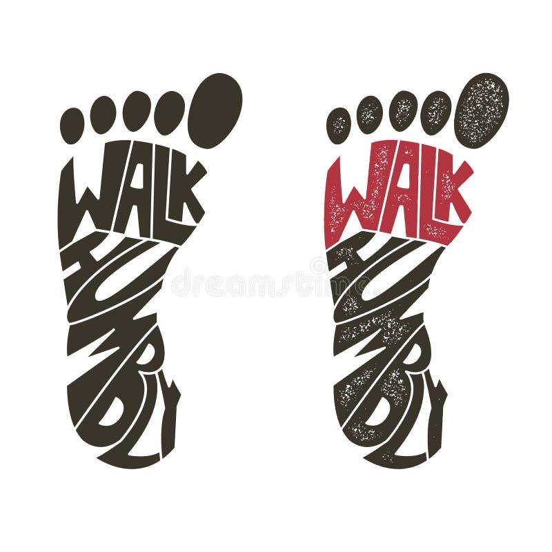 Caminhada humildemente Ilustração do vetor ilustração royalty free