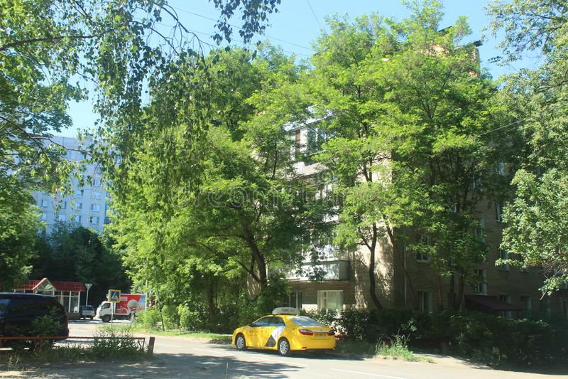 Caminhada a Korolev Interseção de Kooperativnaja e de Dzerjinsky fotos de stock