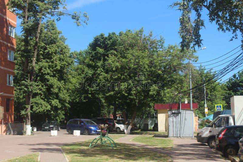 Caminhada a Korolev Rua de Uritskogo foto de stock