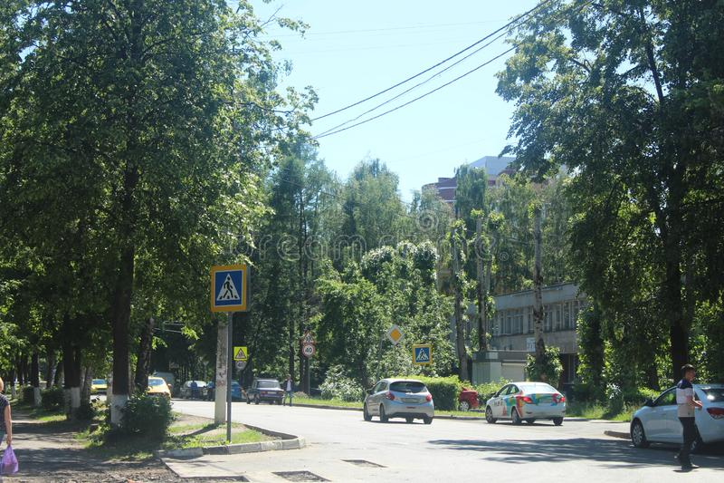 Caminhada a Korolev Sob a constru??o imagens de stock