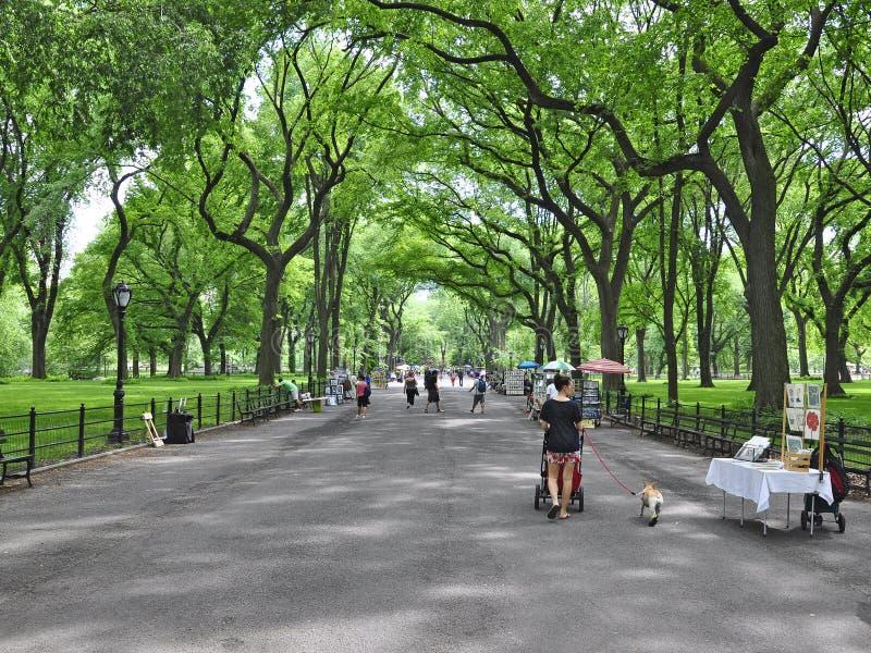 Caminhada literária do Central Park imagens de stock