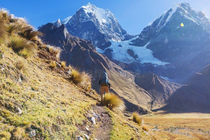Caminhada no Peru imagens de stock royalty free