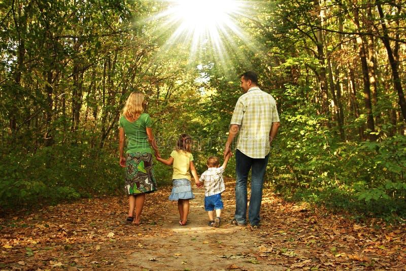 Caminhada nova da família junto fotos de stock royalty free