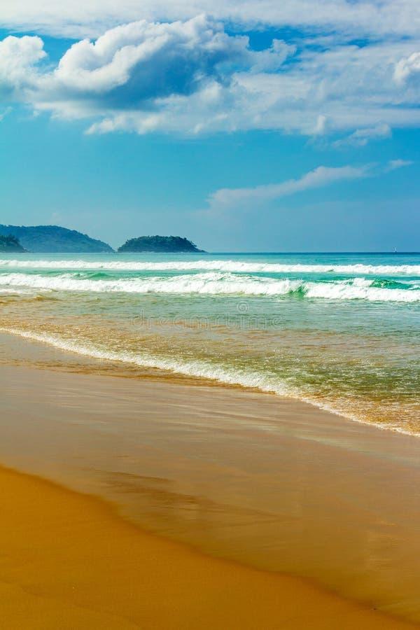 Caminhada sentimental ao longo da praia foto de stock