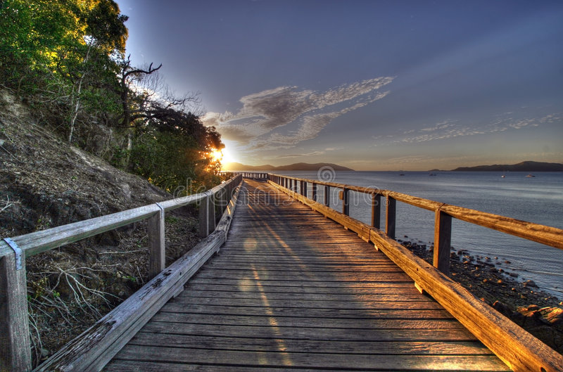 Caminhada tropical do paraíso imagem de stock royalty free