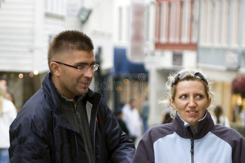 Caminhada urbana imagens de stock royalty free