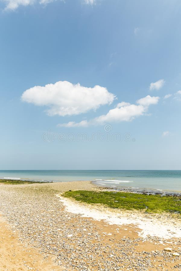 Caminhada vasta do Sandy Beach do beira-mar fotografia de stock royalty free