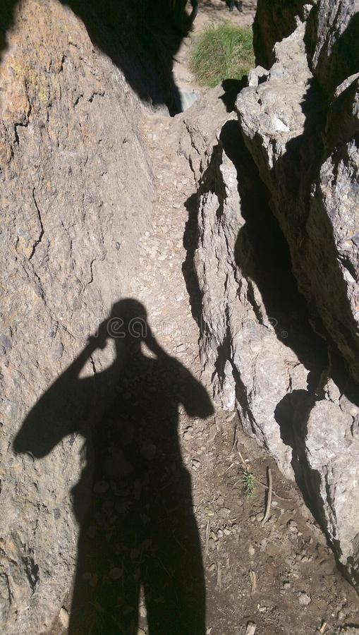 Caminhando Diamond Mines preto imagem de stock