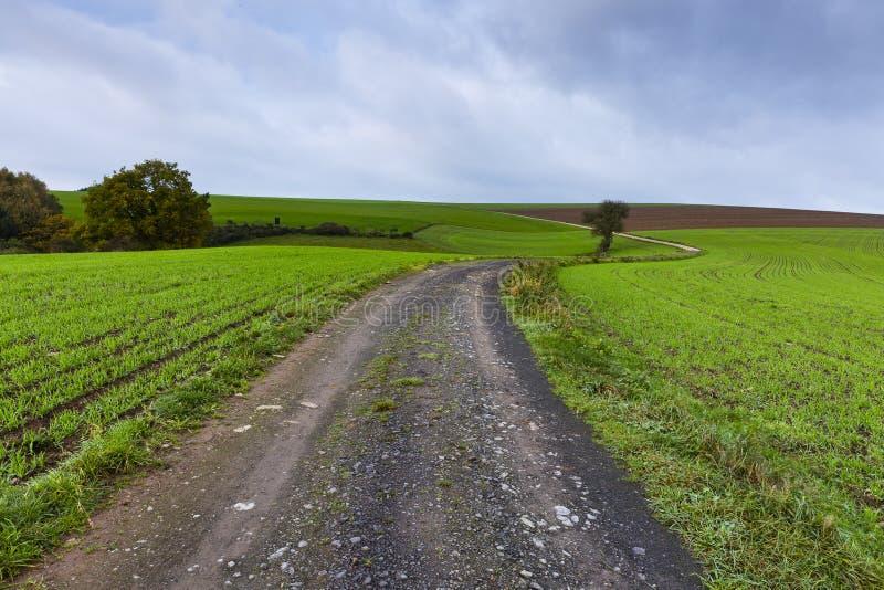 Caminhando a fuga GR5 no Benelux imagens de stock