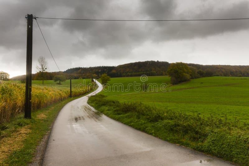 Caminhando a fuga GR5 no Benelux fotografia de stock royalty free