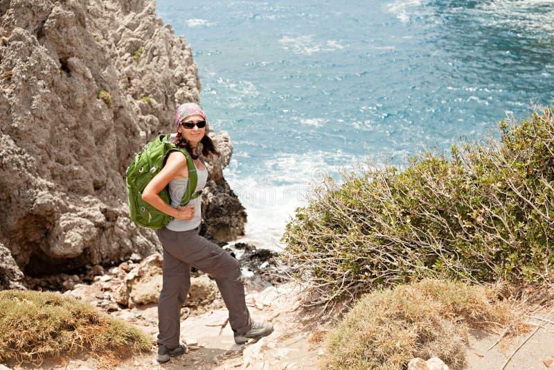 Caminhando A Mulher Fotografia de Stock