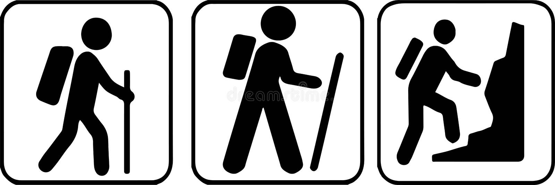 caminhando o ?cone no fundo branco ilustração royalty free