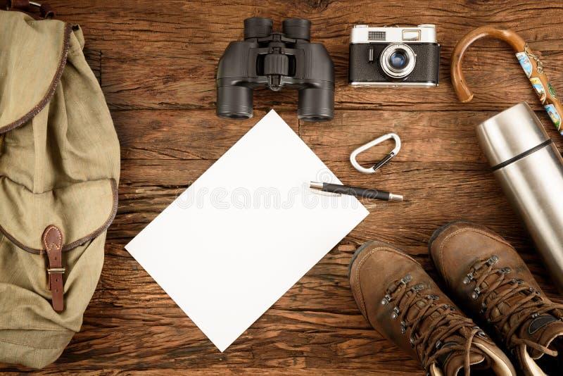 Caminhando o equipamento fotos de stock royalty free