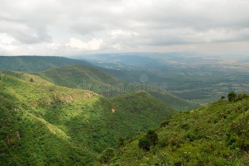 Caminhando os montes de Kijabe, Kenya imagem de stock royalty free