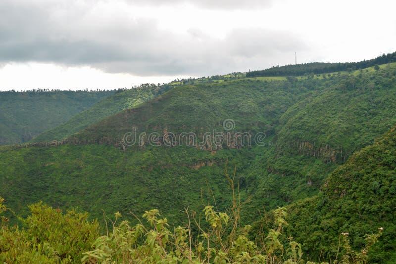 Caminhando os montes de Kijabe, Kenya fotos de stock royalty free