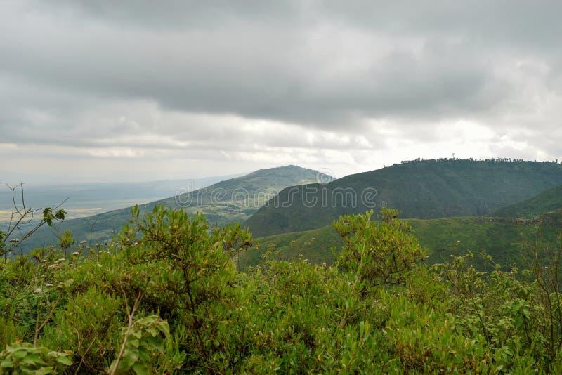 Caminhando os montes de Kijabe, Kenya foto de stock royalty free