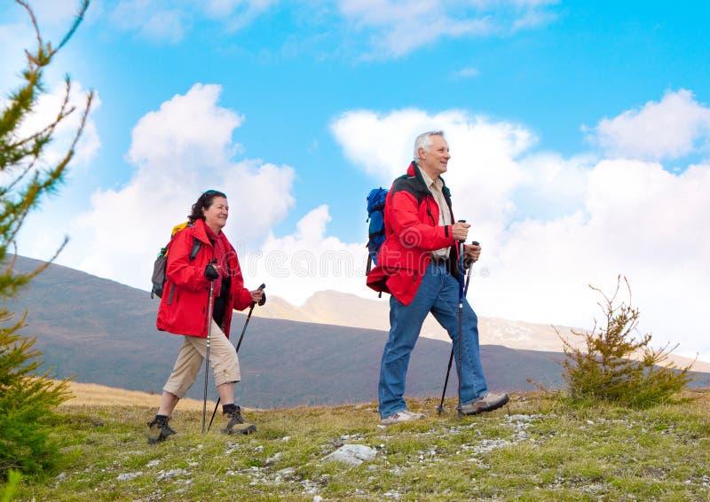 Caminhando os séniores 19 fotos de stock royalty free