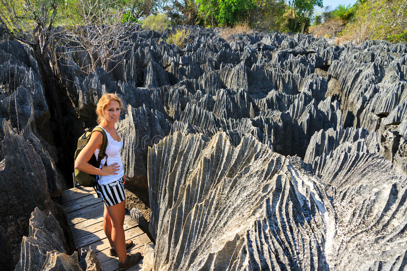 Caminhando Tsingy imagem de stock royalty free