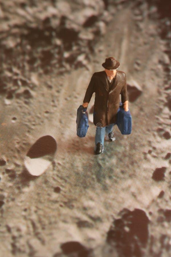 Caminhante da lua imagens de stock
