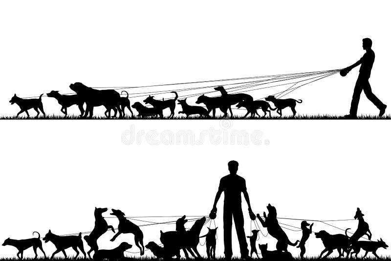 Caminhante do cão ilustração royalty free
