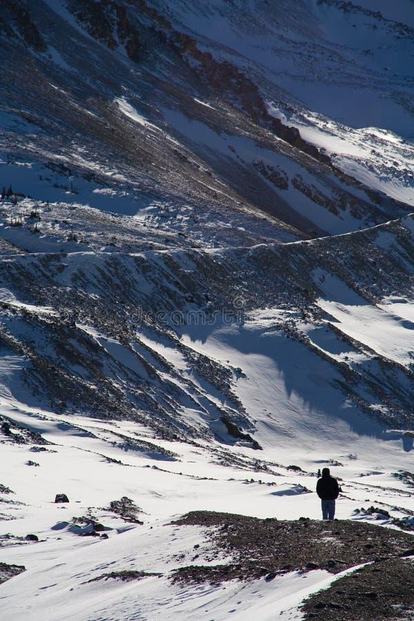 Caminhante do inverno imagens de stock