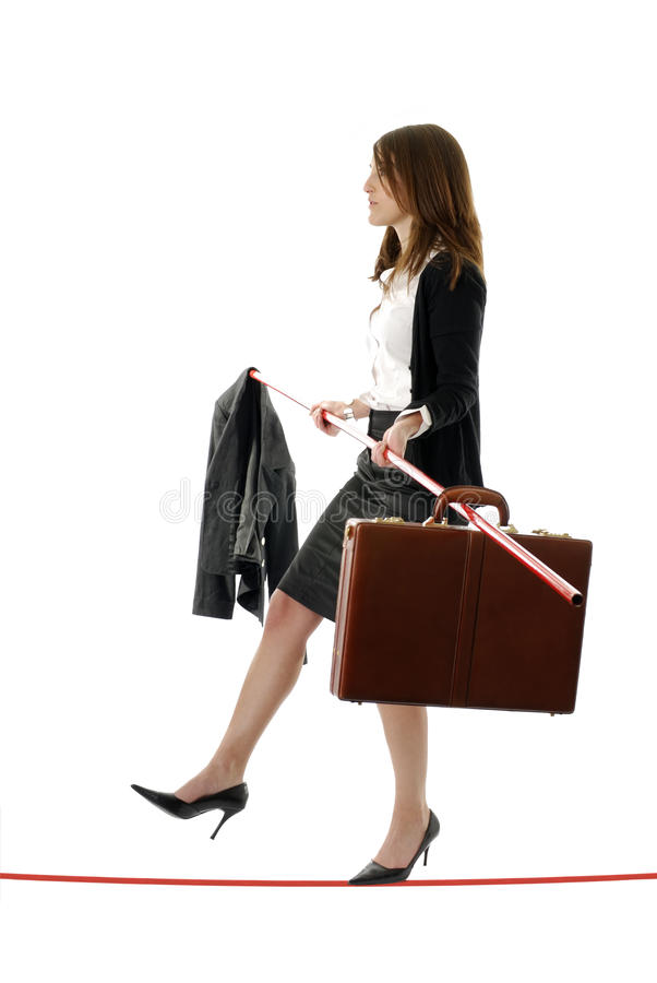 Caminhante do Tightrope do negócio imagens de stock royalty free