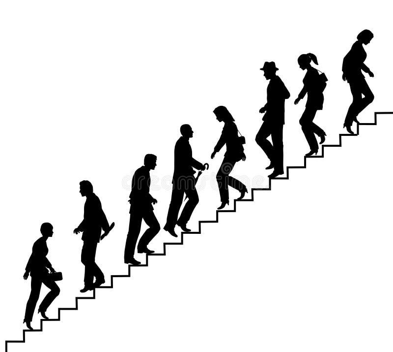 Caminhantes da escada ilustração do vetor