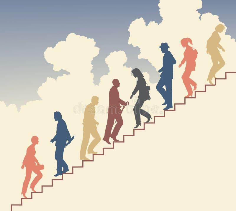 Caminhantes da escada ilustração royalty free