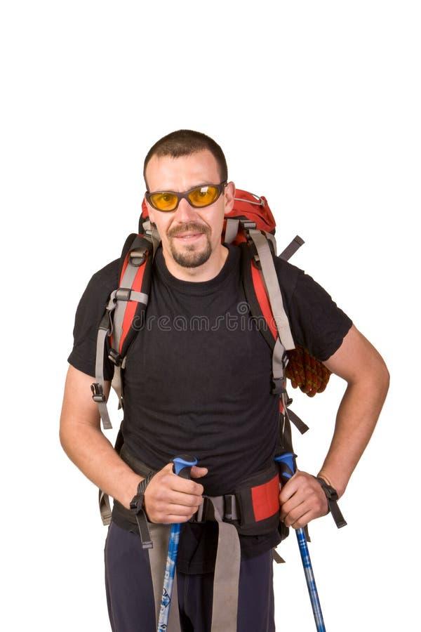 Download Caminhar Tem O Descanso Inclinar-se De Encontro Ao Bastão Imagem de Stock - Imagem de camisa, homens: 16855153