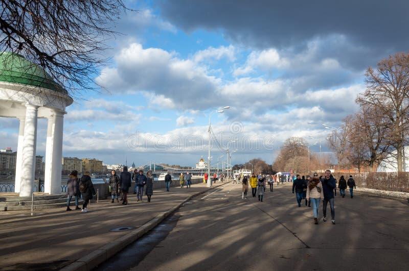 Caminhe por Moscou fotografia de stock