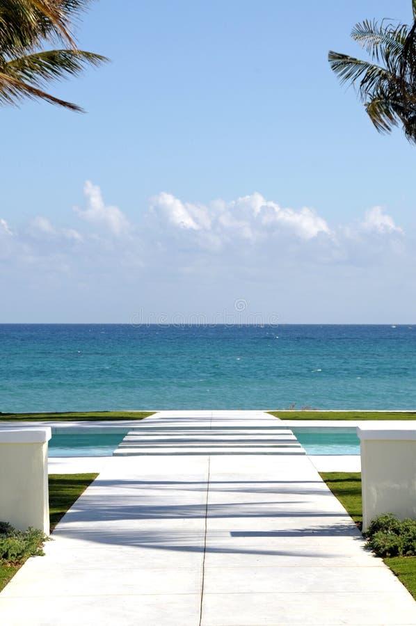 Caminho ao oceano fotos de stock royalty free