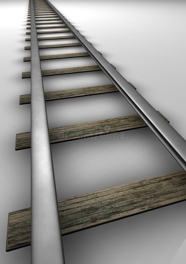 Caminho de ferro ilustração royalty free