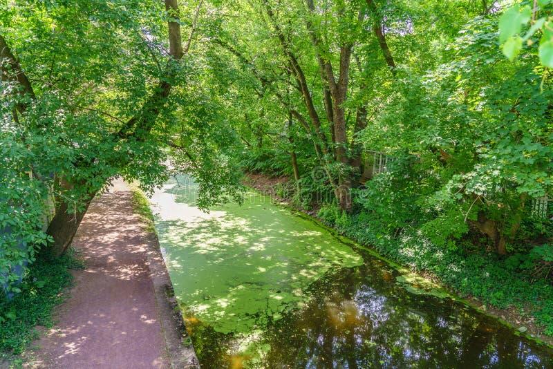 Caminho de sirga do canal de Delaware, esperança nova, PA fotos de stock