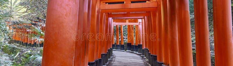 Caminho do inari de Fushimi através de mil portas fotos de stock royalty free