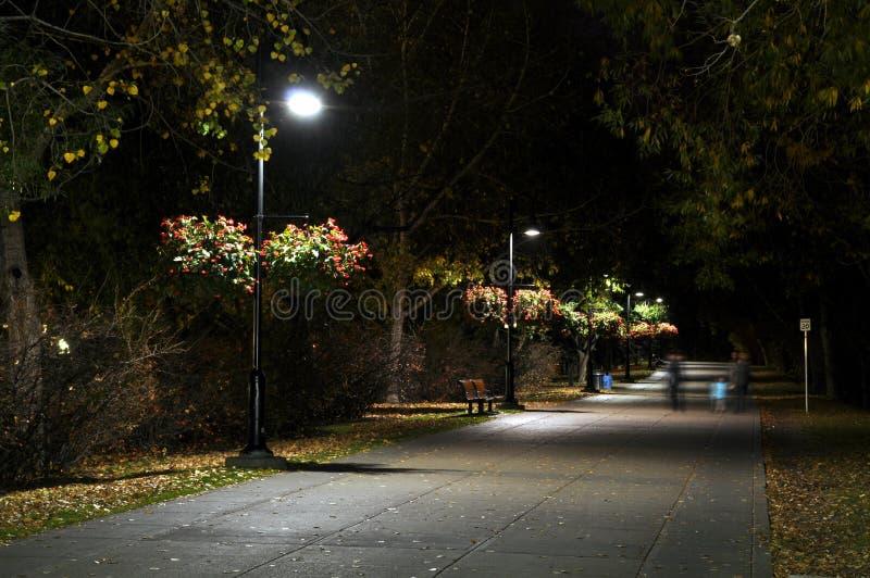 Caminho urbano na noite imagem de stock royalty free