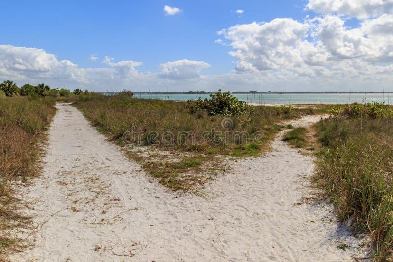 Caminhos à praia imagem de stock royalty free