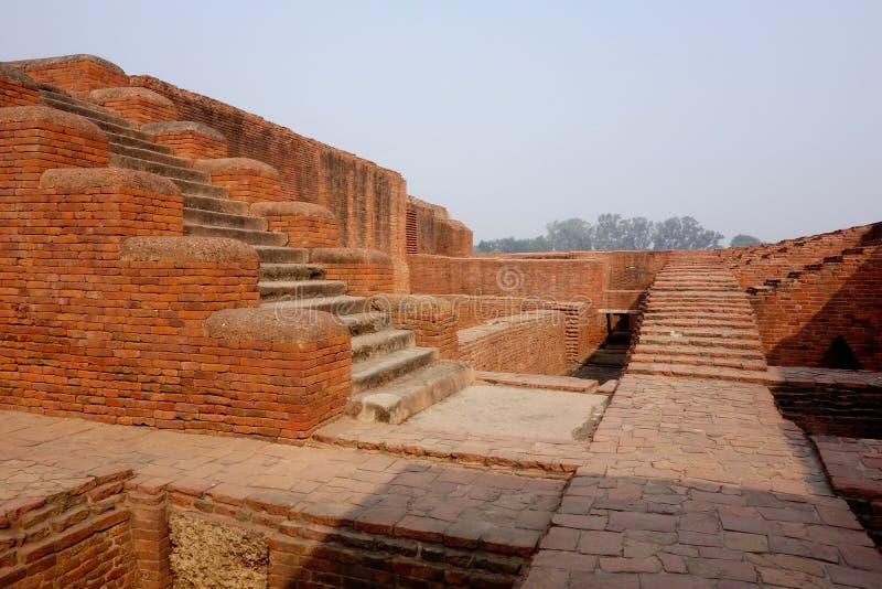 Caminhos da escada de Nalanda Mahavihara fotos de stock royalty free