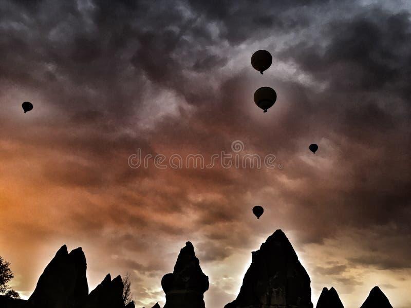 Camini di Cappadocian fotografia stock