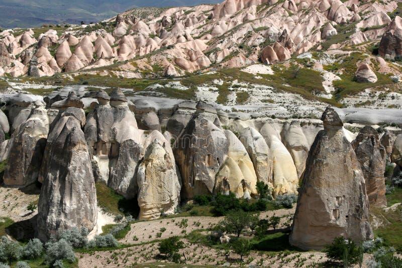 Camini di Fata in Cappadocia immagini stock