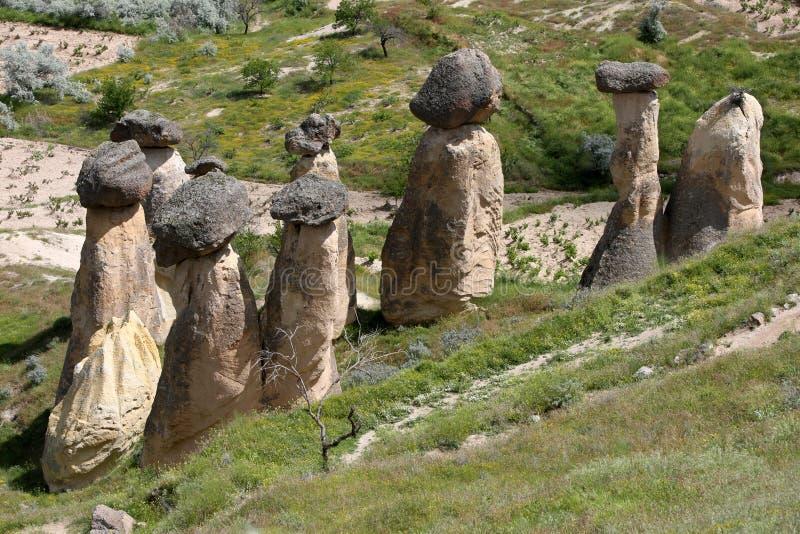 Camini di Fata in Cappadocia fotografia stock libera da diritti