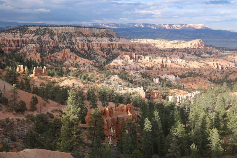 Camini leggiadramente rossastri Bryce Canyon di tramonto immagine stock