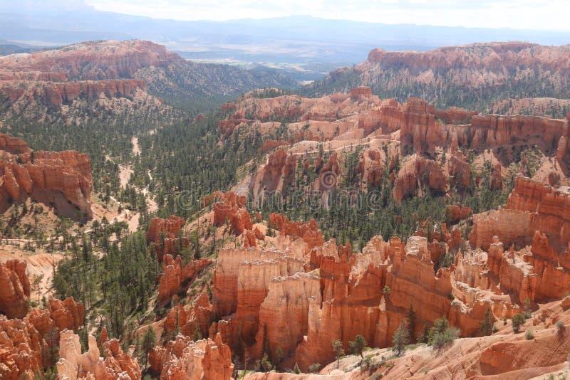 Camini leggiadramente rossastri montagnosi Bryce Canyon fotografia stock libera da diritti